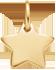 pozlacená hvězdička 1 cm