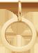 lemovaný medailon 1 cm ze žlutého zlata
