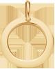 lemovaný medailon 1,5 cm ze žlutého zlata