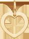 lemované srdce 1 cm ze žlutého zlata