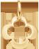 kruhový lemovaný čtyřlístek 1 cm ze žlutého zlata