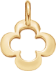 kruhový lemovaný čtyřlístek 1,5 cm ze žlutého zlata