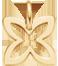 lemovaná vodorovná lilie ze žlutého zlata 1 cm