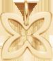 lemovaná vodorovná lilie ze žlutého zlata 1,5 cm