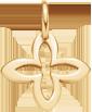 lemovaná svislá lilie ze žlutého zlata 1,6 cm