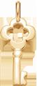 pozlacený klíč 2 cm