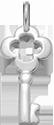 stříbrný klíč 2 cm