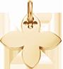 pozlacená lilie 2 cm
