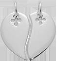 stříbrné srdce pro pár 2 cm