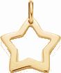 lemovaná hvězda 1,5 cm ze žlutého zlata