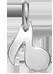 stříbrná nota 1 cm