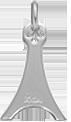 stříbrná Eiffelova věž 2 cm