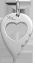 stříbrné křídlo lásky 2 cm