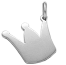 stříbrná koruna 2 cm