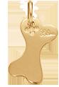 pozlacená kost 1,8 cm