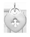 Stříbrný visací zámek 1,8 cm