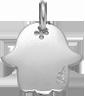Stříbrná ruka Fatimy 1,5 cm