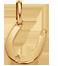 podkova 1 cm ze žlutého zlata
