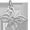 ažurový stříbrný motýl 1,5 cm