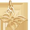 ažurový pozlacený motýl 1,5 cm
