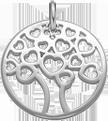 stříbrný ažurový strom 2 cm