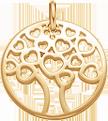 pozlacený ažurový strom 2 cm