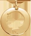 pozlacený medailon s chlapcem 2 cm