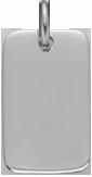 stříbrná tabulka emocí 2,7 x 1,6 cm