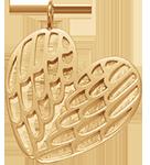 Lemované pozlacené křídla 2,5 cm
