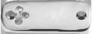 stříbrný čtvercový štítek s čtyřlístkem