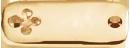 pozlacený čtvercový štítek s čtyřlístkem