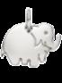 stříbrný slon 1 cm