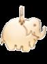 pozlacený slon 1 cm