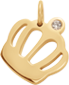 Koruna Queen 1,2 cm pozlacená