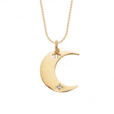 Pozlacený náhrdelník Lune na tenkém klasickém řetízku