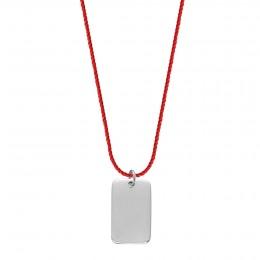 Náhrdelník Tabulka emocí stříbrná na silném červeném provázku premium