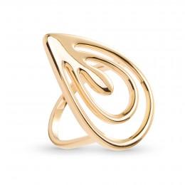 Pozlacený prsten Páv