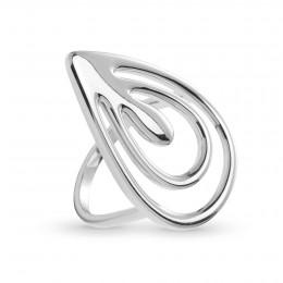 Stříbrný prsten Páv