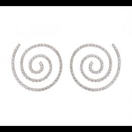 Stříbrné náušnice Spiral