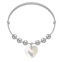 Náramek Pearl Love na stříbrném provázku premium