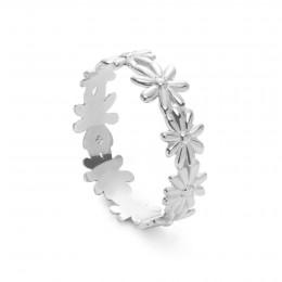 Snubní prsten Flowers stříbrný