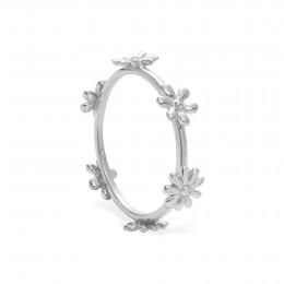 Prsten Flowers stříbrný