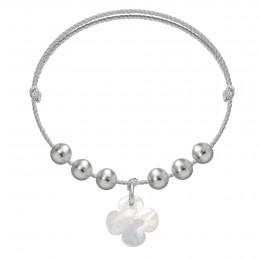Náramek Pearl Luck na stříbrném provázku premium