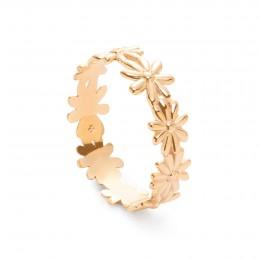 Snubní prsten Flowers pozlacený