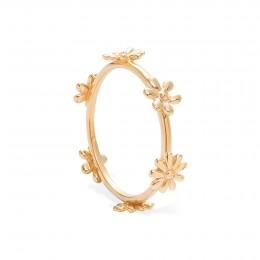 Prsten Flowers pozlacený