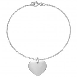 Náhrdelník se stříbrným srdcem na tenkém klasickém řetízku