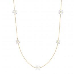 Pozlacený náhrdelník Flowers, s pomněnkami z perleti