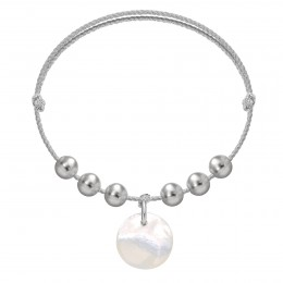 Náramek Pearl Harmony na stříbrném provázku premium