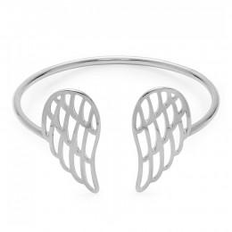 Stříbrný ažurový náramek křídla