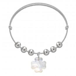 Náramek Pearl Felicity na stříbrném provázku premium